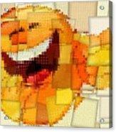 Emoticon Mosaic Cubism Acrylic Print