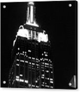 Empire State B W  Acrylic Print