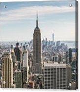 Empire State Building And Manhattan Skyline, New York City, Usa Acrylic Print