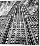 Empire State Building Black And White Acrylic Print by John Farnan