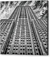 Empire State Building Black And White Square Format Acrylic Print by John Farnan