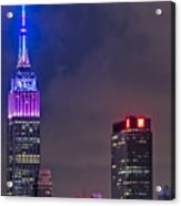 Empire State Building Esb At Night Acrylic Print