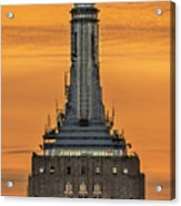 Empire State Building Esb Broadcasting Nyc Acrylic Print