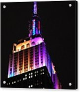Empire State Building In Pastel Color Acrylic Print