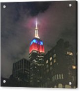 Empire State Building In The Fog Acrylic Print