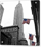 Empire State Building In The Mist Acrylic Print