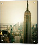 Empire State Building New York Cityscape Acrylic Print