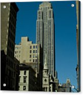 Empire State Building Seen From Street Acrylic Print