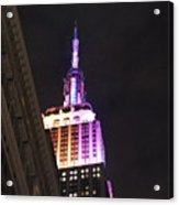 Empire State Building With A Light In A Window Acrylic Print