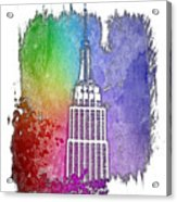 Empire State Of Mind Cool Rainbow 3 Dimensional Acrylic Print