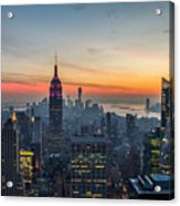 Empire State Sunset Acrylic Print