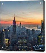 Empire State Sunset Acrylic Print