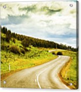 Empty Asphalt Road In Countryside Acrylic Print