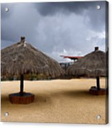Empty Beach Due To Incoming Storm  Acrylic Print