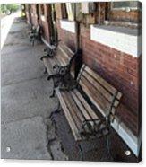 Empty Benches Acrylic Print