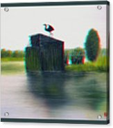 Empty Blind - Use Red-cyan 3d Glasses Acrylic Print