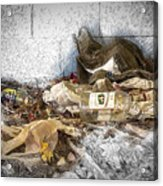 Empty Bottles And Discarded Pants Acrylic Print