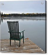 Empty Chair On Autumn Morning Acrylic Print
