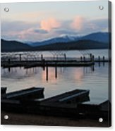 Empty Docks On Priest Lake Acrylic Print