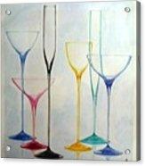 Empty Glasses Acrylic Print