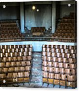Empty Movie Theater - Urban Exploration Acrylic Print