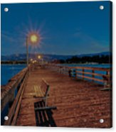 Empty Pier Glow Acrylic Print