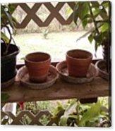 Empty Pots Acrylic Print