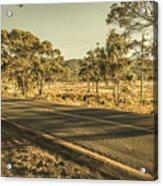 Empty Regional Australia Road Acrylic Print