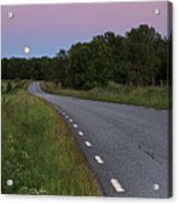 Empty Road In Countryside Landscape Acrylic Print