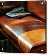 Empty Seat Train To Versailles From Paris.  Acrylic Print