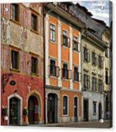 Empty Street In Slovenia Acrylic Print