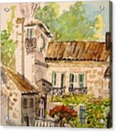 En Plein Air At Moulin De La Roque France Acrylic Print