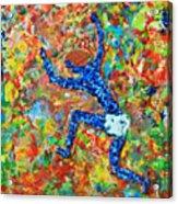 Encaustic  Man  Jumping Acrylic Print