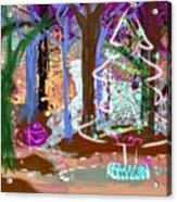 Enchanted Christmas Forest Acrylic Print