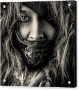 Enchanted Concept Black And White Acrylic Print
