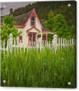 Enchanted Cottage With Picket Fence Acrylic Print