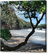 Enchanted Rocks Koki Beach Haneoo Hana Maui Hawaii Acrylic Print
