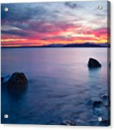 End Of Day At Alki Beach Acrylic Print by Dan Mihai