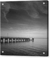 End Of The Pier Landscape Photograph Acrylic Print
