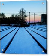 End Of The Tracks Acrylic Print