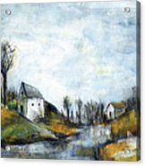 End Of Winter - Acrylic Landscape Painting On Cotton Canvas Acrylic Print