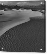 Endless Dunes Black And White Acrylic Print