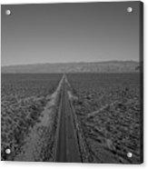Endless Road Aerial Bw Acrylic Print