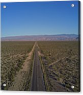 Endless Road Aerial  Acrylic Print