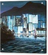 Energetic Blue Acrylic Print