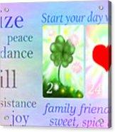 Energize Acrylic Print