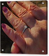 Engagement Ring Acrylic Print