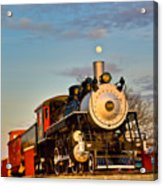 Engine 509 At Crossville Tennessee Puffing Acrylic Print