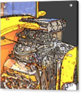 Engine Sketch 2 By Darrell Hutto Acrylic Print