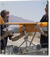 Engineers Mount A Scaneagle Unmanned Acrylic Print
